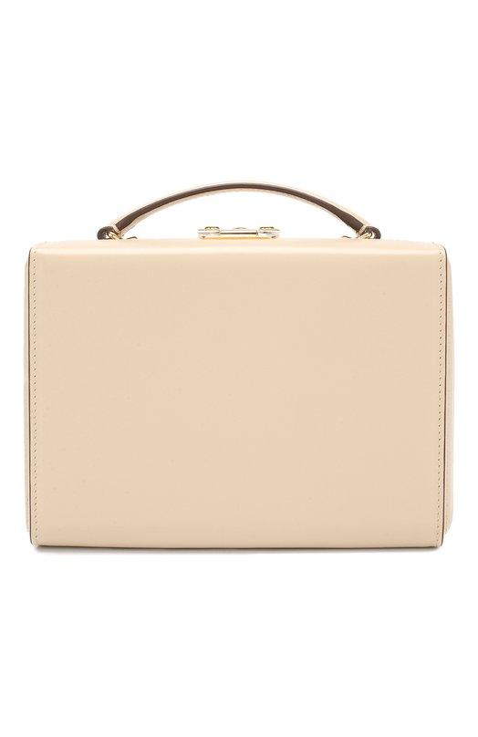 Купить Сумка Grace Small Box Mark Cross, W108153G, Италия, Бежевый, Кожа натуральная: 100%;