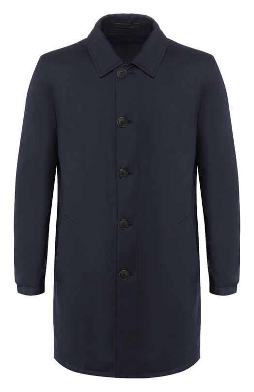 Пальто из смеси кашемира и шелка Giorgio Armani