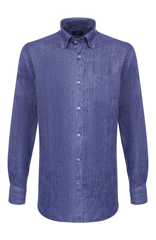Купить Льняная рубашка с воротником button down Paul&Shark, P19P3196, Италия, Фиолетовый, Лен: 100%;