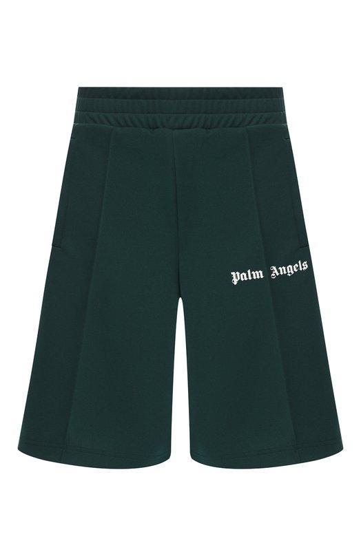 Купить Шорты Palm Angels, PMCB011S193840014201, Италия, Темно-зеленый, Полиэстер: 100%;