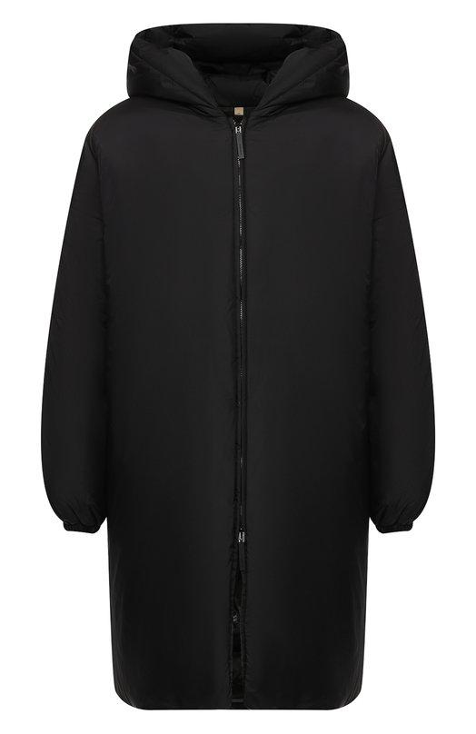 Купить Пуховая парка Burberry, 8003514, Китай, Черный, Наполнитель-гусиный пух: 80%; Наполнитель-перо гусиное: 20%; Полиамид: 100%; Подкладка-текстиль: 100%;