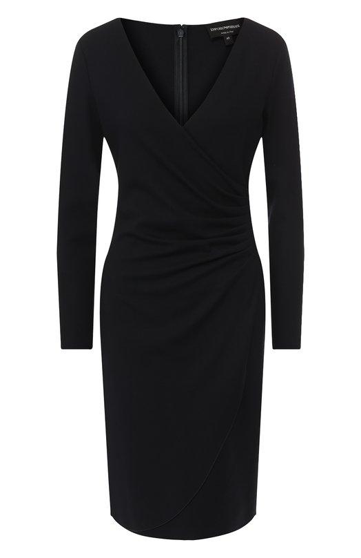 Купить Платье из вискозы Emporio Armani, 3G2A6G/2JFAZ, Италия, Темно-синий, Вискоза: 77%; Эластан: 6%; Полиамид: 17%;