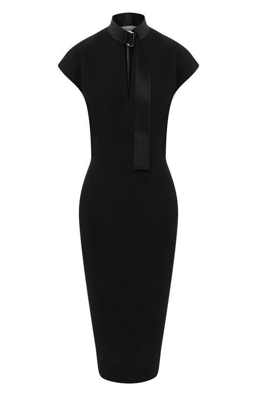 Купить Приталенное платье Victoria Beckham, DR FIT 6733 PSS19 D1 B0NDED CREPE, Италия, Черный, Триацетат: 70%; Полиэстер: 30%;