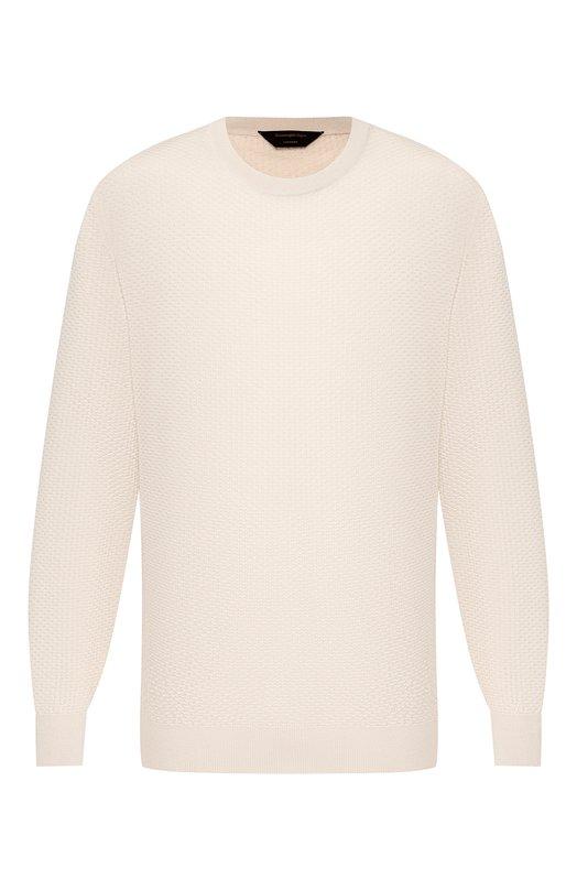 Джемпер из смеси кашемира и шелка Zegna Couture