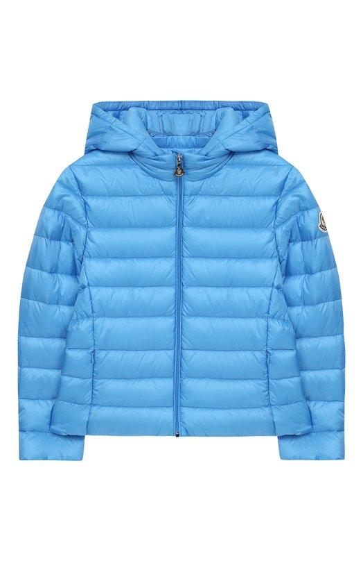 Купить Стеганая куртка с капюшоном Moncler Enfant, E1-954-46810-99-53048/8-10A, Армения, Голубой, Подкладка-полиамид: 100%; Полиамид: 100%;