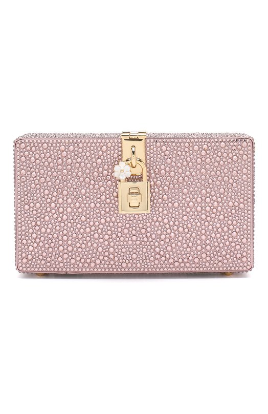 Купить Клатч Dolce Box Dolce & Gabbana, BB6246/AK040, Италия, Розовый, Отделка-стекло: 100%; Текстиль: 100%;