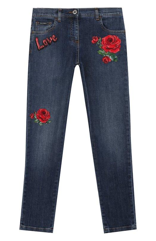 Джинсы с аппликациями Dolce & Gabbana