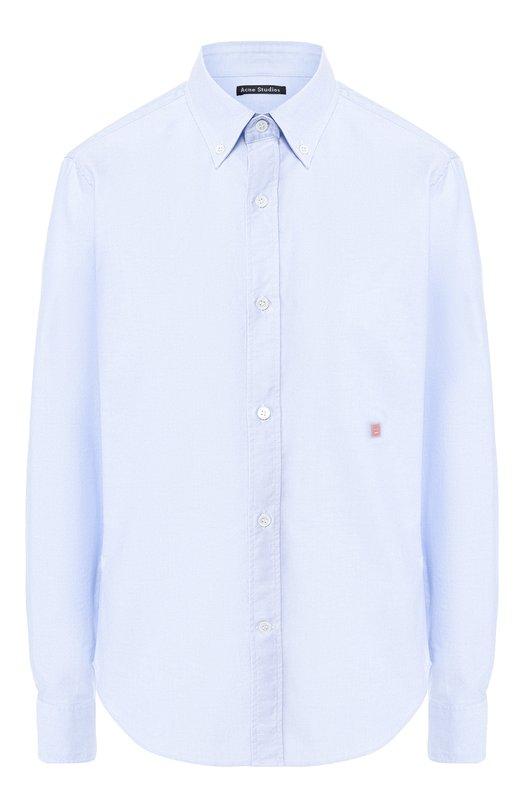 Купить Хлопковая рубашка Acne Studios, 21Z173/W, Румыния, Голубой, Хлопок: 100%;