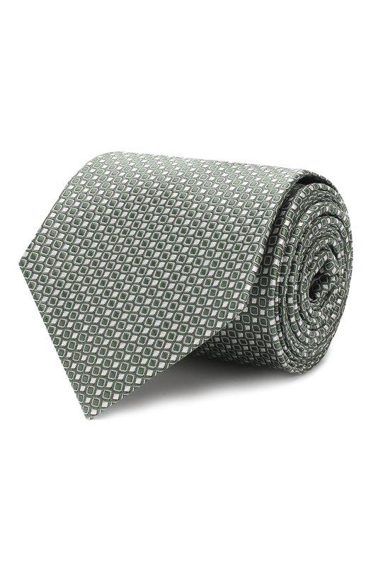 Купить Шелковый галстук Giorgio Armani, 360054/9P931, Италия, Зеленый, Шелк: 100%;