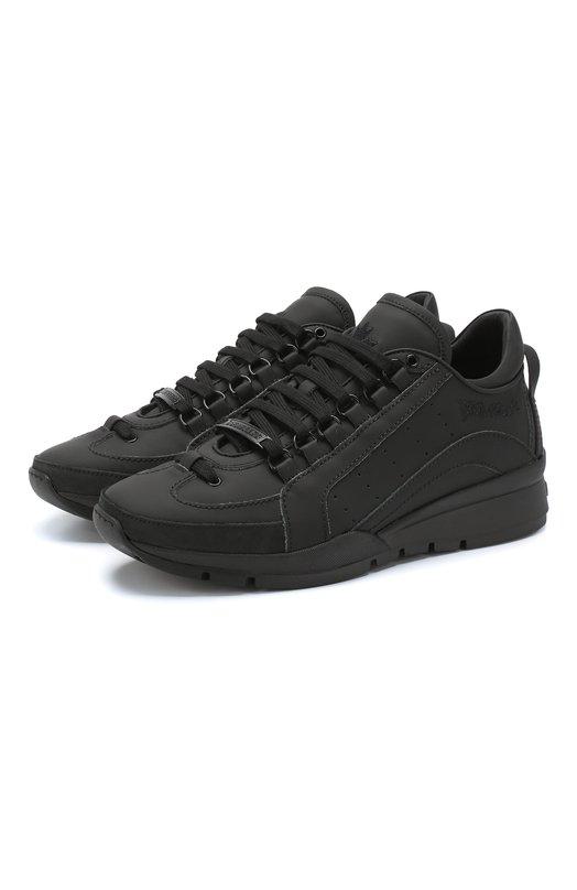 Купить Кожаные кроссовки Dsquared2, SNM0404 12810001, Италия, Черный, Кожа: 100%; Низ-кожа: 100%; Подкладка-кожа: 100%; Подошва-полимер: 100%;