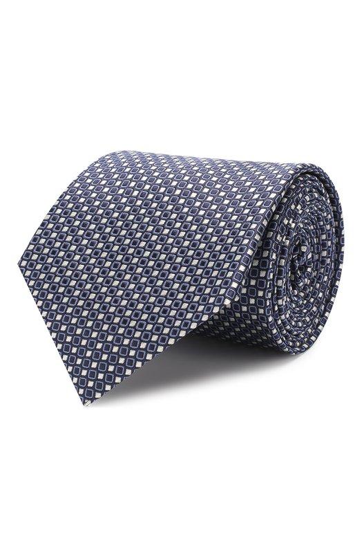 Купить Шелковый галстук Giorgio Armani, 360054/9P931, Италия, Синий, Шелк: 100%;