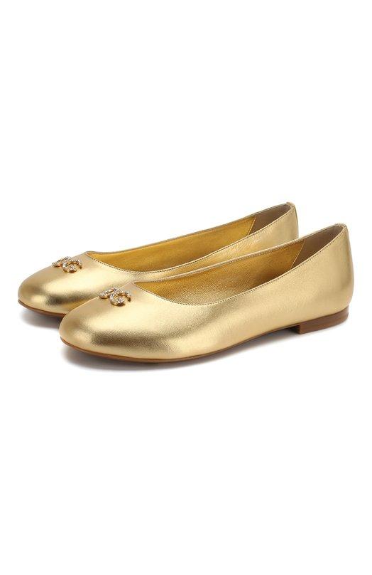 Кожаные балетки Dolce & Gabbana