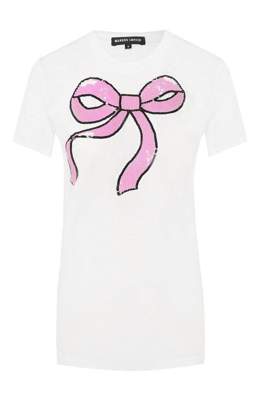 Купить Хлопковая футболка Markus Lupfer, TEE145, Индия, Белый, Хлопок: 100%;