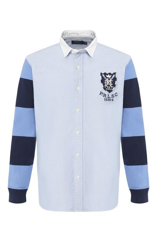 Купить Хлопковая рубашка Polo Ralph Lauren, 710731742/3058, Филиппины, Голубой, Хлопок: 100%;