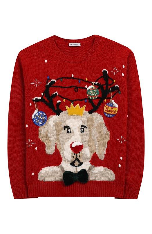 Пуловер из шерсти и кашемира Dolce & Gabbana