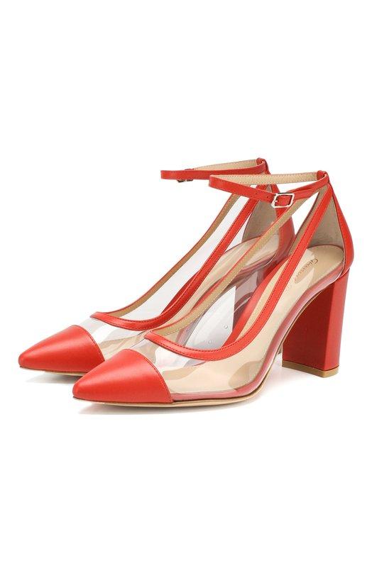 Комбинированные туфли Shannon 85 Gianvito Rossi Gianvito Rossi