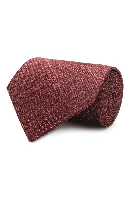 Шелковый галстук Tom Ford, 5TF11/XTF, Италия, Бордовый, Шелк: 100%;  - купить