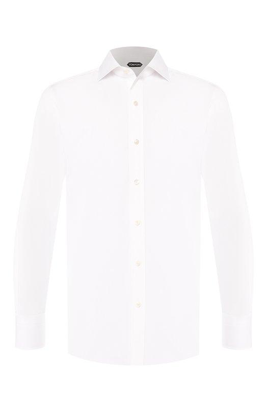 Хлопковая сорочка с воротником кент Tom Ford