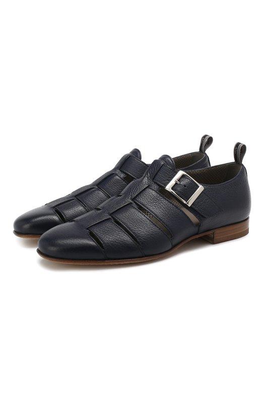 Купить Кожаные сандалии Aldo Brue, AB6072G-CR, Италия, Темно-синий, Подошва-кожа: 100%; Подкладка-кожа: 100%; Кожа: 100%; Низ-кожа: 100%;