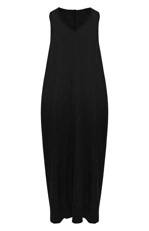 Купить Платье свободного кроя Yohji Yamamoto, YZ-K81-545, Япония, Черный, Акрил: 50%; Хлопок: 50%;
