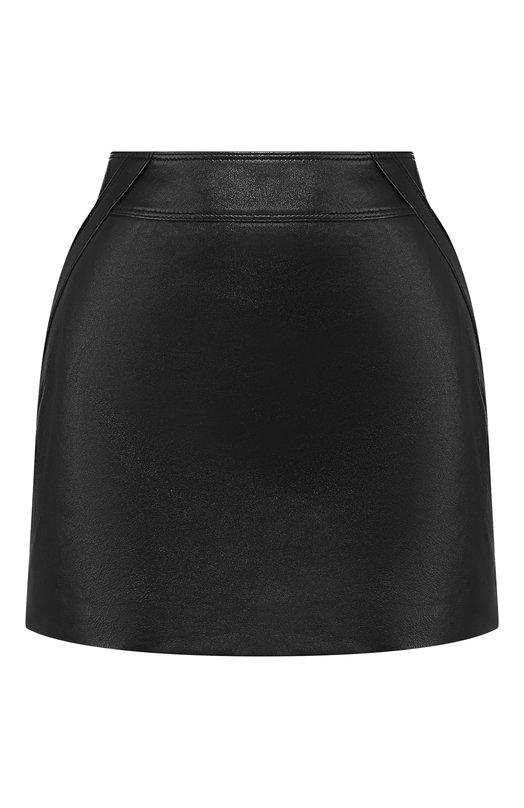 Купить Кожаная юбка Saint Laurent, 549699/YC2Q0, Италия, Черный, Кожа: 100%;