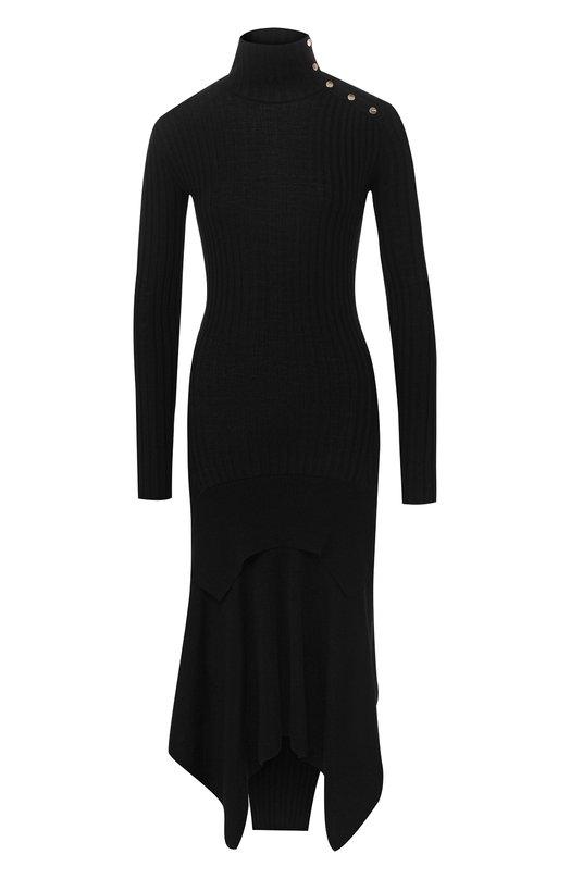 Купить Платье из смеси шерсти и шелка Stella McCartney, 521167/S1882, Италия, Черный, Шерсть: 70%; Шелк: 30%;