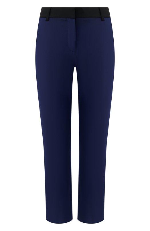Купить Шерстяные брюки Diane Von Furstenberg, 12470DVF, Китай, Темно-синий, Шерсть: 96%; Эластан: 4%;