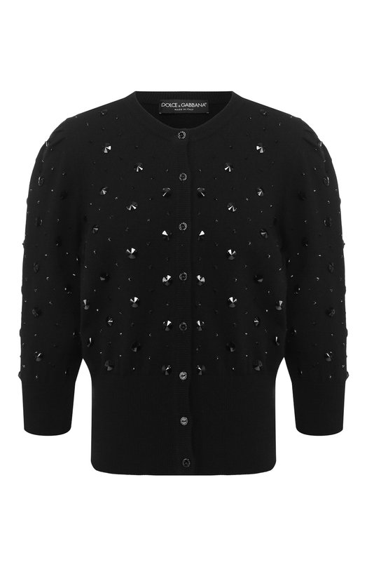 Купить Кашемировый кардиган Dolce & Gabbana, FX091Z/JAWLE, Италия, Черный, Кашемир: 100%;