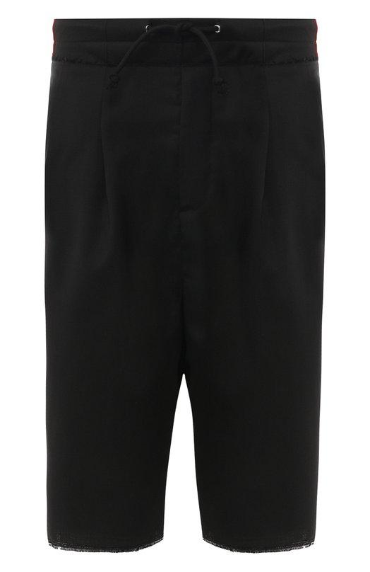 Купить Шерстяные шорты Maison Margiela, S50MU0010/S44330, Италия, Черный, Шерсть: 100%;