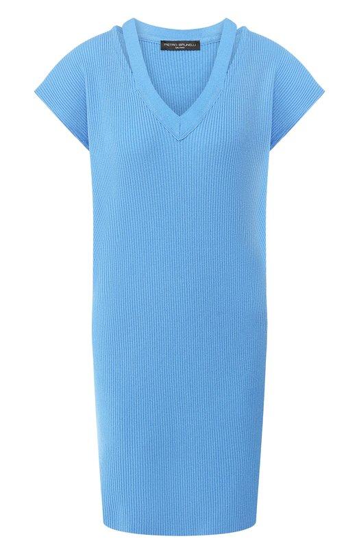 Купить Платье из вискозы Pietro Brunelli, AGMI02/VIS101, Италия, Голубой, Вискоза: 98%; Эластан: 2%;