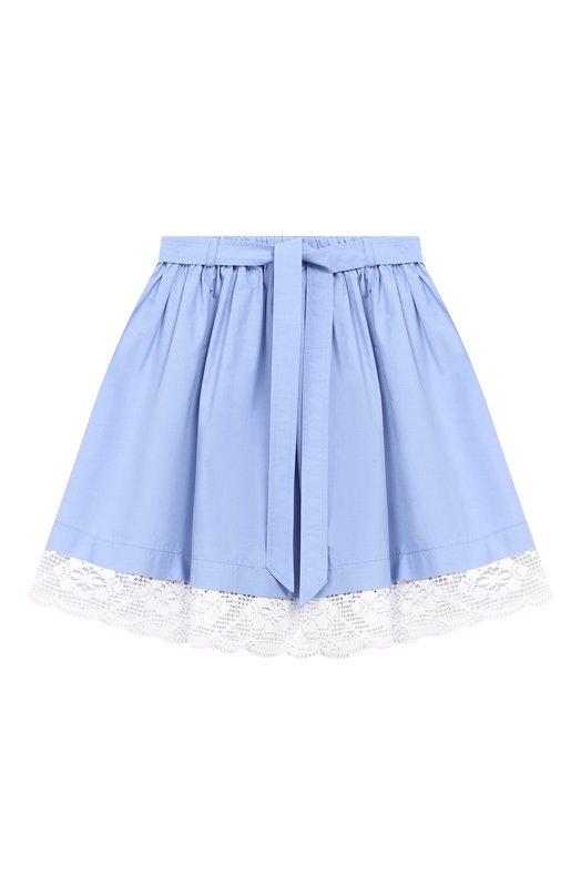 Хлопковая юбка с поясом Ermanno Scervino