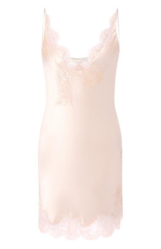 Купить Шелковая сорочка Carine Gilson, AN0308DS C19, Бельгия, Розовый, Шелк: 100%;