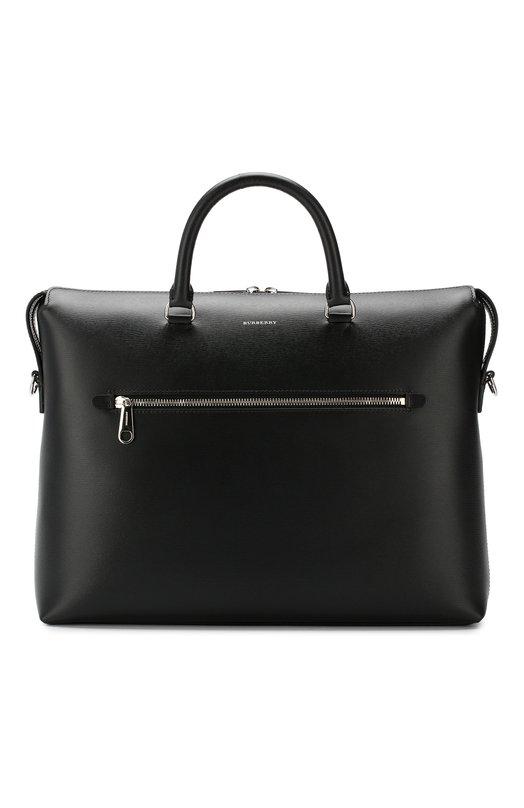 Купить Кожаная сумка для ноутбука Burberry, 8006291, Италия, Черный, Кожа: 100%;
