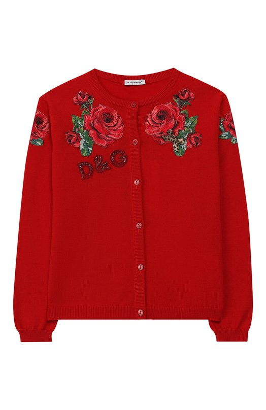 Шерстяной кардиган на пуговицах Dolce & Gabbana