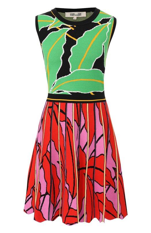 Купить Платье из вискозы Diane Von Furstenberg, 12537DVF, Китай, Разноцветный, Вискоза: 83%; Полиэстер: 17%;