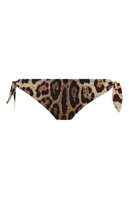 Купить Плавки-бикини с принтом Dolce & Gabbana, 02A06J/FSGDM, Италия, Коричневый, Полиамид: 75%; Эластан: 25%;