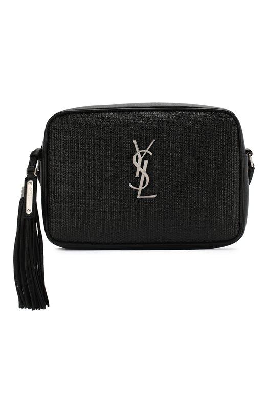Купить Сумка Lou medium Saint Laurent, 520534/96W3E, Италия, Черный, Отделка-кожа: 100%; Текстиль: 100%;