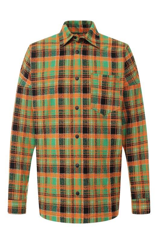 Купить Хлопковая рубашка Palm Angels, PMGA024S195540018801, Италия, Разноцветный, Хлопок: 70%; Полиамид: 30%;