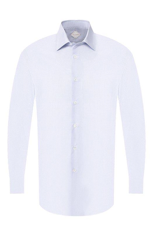 Купить Хлопковая сорочка с воротником кент Pal Zileri, 0370G45---50746, Италия, Голубой, Хлопок: 100%;