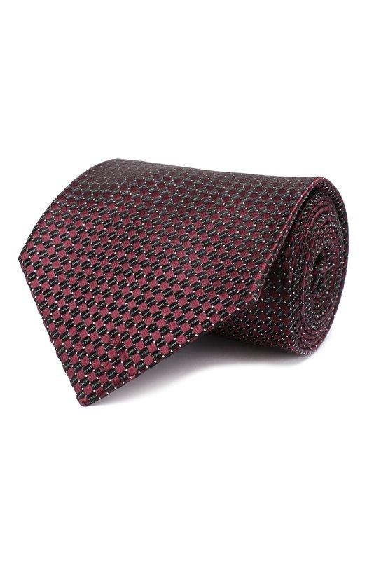 Купить Шелковый галстук Tom Ford, 5TF26/XTF, Италия, Бордовый, Шелк: 100%;