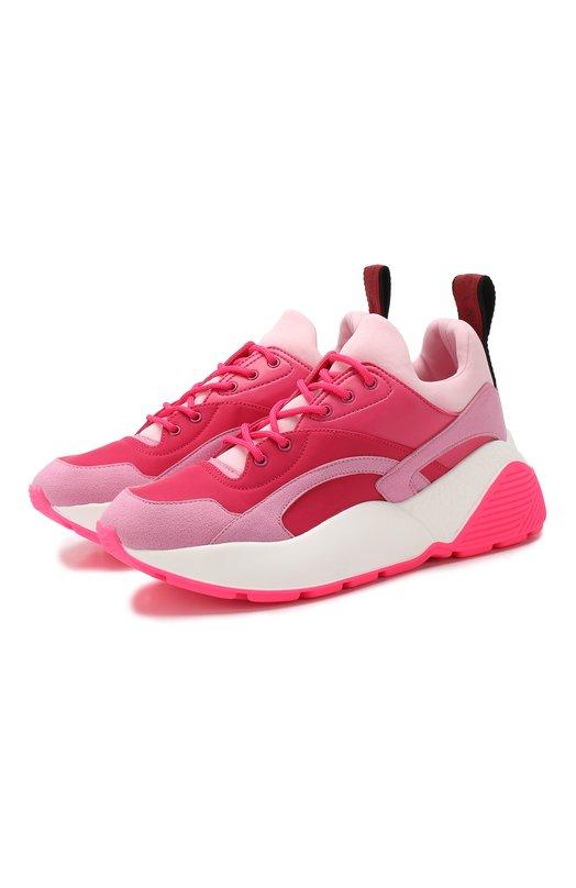 Купить Текстильные кроссовки Eclypse Stella McCartney, 501777/W1F75, Испания, Розовый, Подкладка-текстиль: 100%; Подошва-резина: 100%; Стелька-текстиль: 100%; Текстиль: 100%;