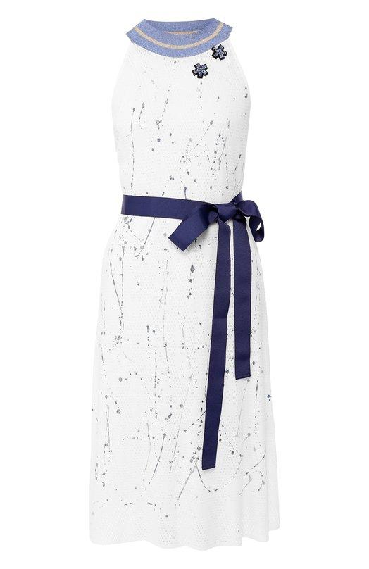 Купить Платье из вискозы Pietro Brunelli, AGMD01/VID002, Италия, Белый, Вискоза: 100%;
