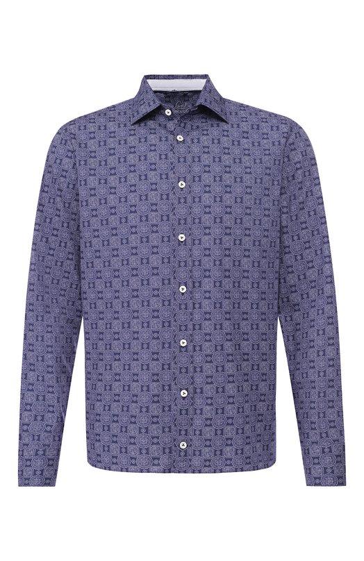 Купить Хлопковая рубашка Van Laack, LET0N-TF11C7W/170771, Вьетнам, Темно-синий, Хлопок: 100%;
