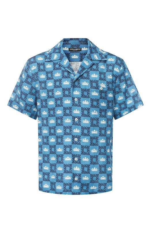 Купить Льняная рубашка Dolce & Gabbana, G5FX9T/FS4FU, Италия, Разноцветный, Лен: 100%;