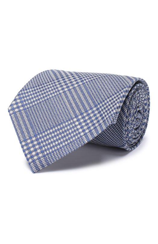 Купить Шелковый галстук Tom Ford, 5TF51/XTF, Италия, Синий, Шелк: 100%;