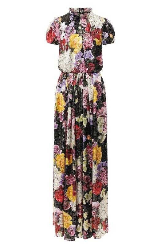 Купить Шелковое платье Dolce & Gabbana, F6D1NT/HSMYC, Италия, Разноцветный, Шелк: 86%; Полиэстер: 14%;