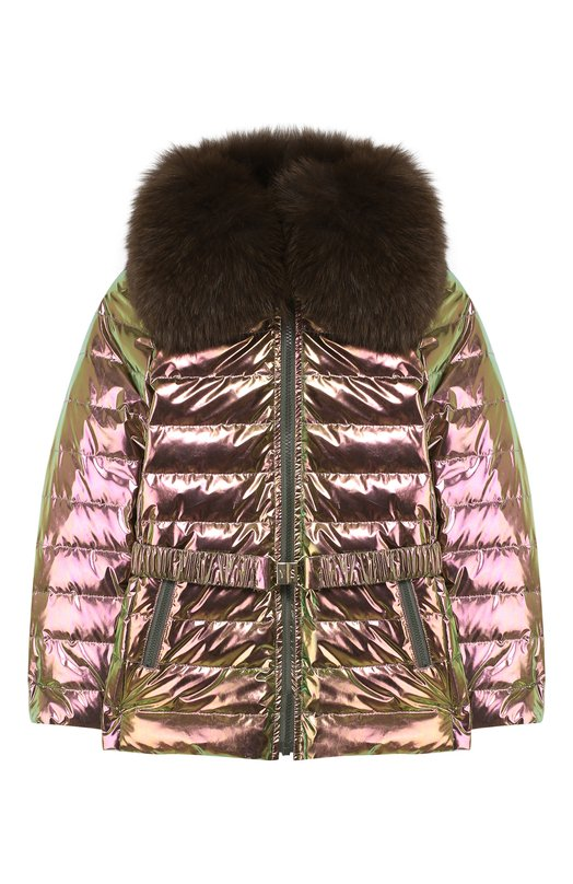 Куртка с меховой отделкой Yves Salomon Enfant