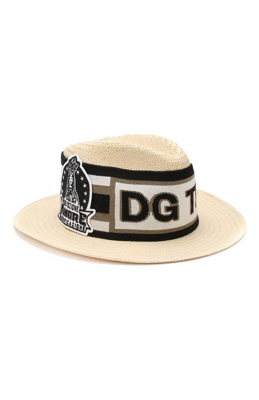 Купить Льняная шляпа Dolce & Gabbana, GH657Z/GEG54, Италия, Бежевый, Лен: 100%;