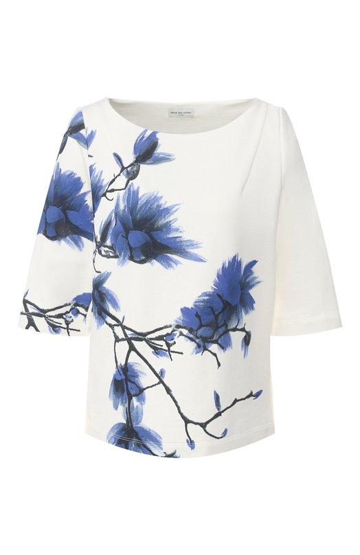 Купить Хлопковый пуловер Dries Van Noten, 191-11119-7618, Турция, Белый, Хлопок: 100%;