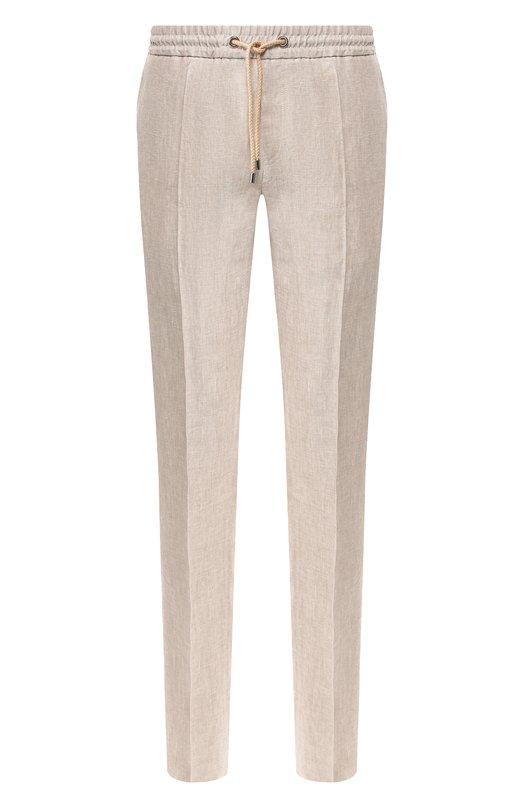 Купить Льняные брюки Pal Zileri, 031NR406---54293, Италия, Бежевый, Лен: 100%;